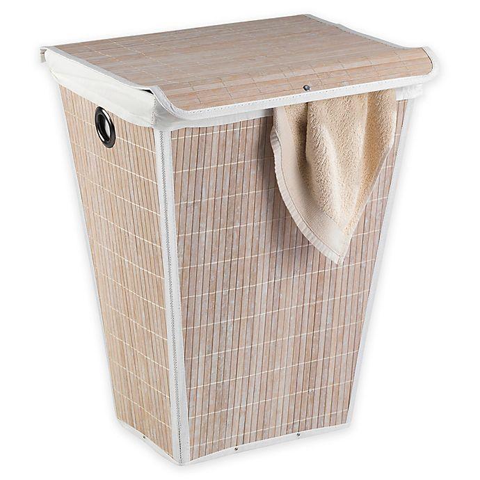 Alternate image 1 for Wenko Conical Laundry Bin with Lid