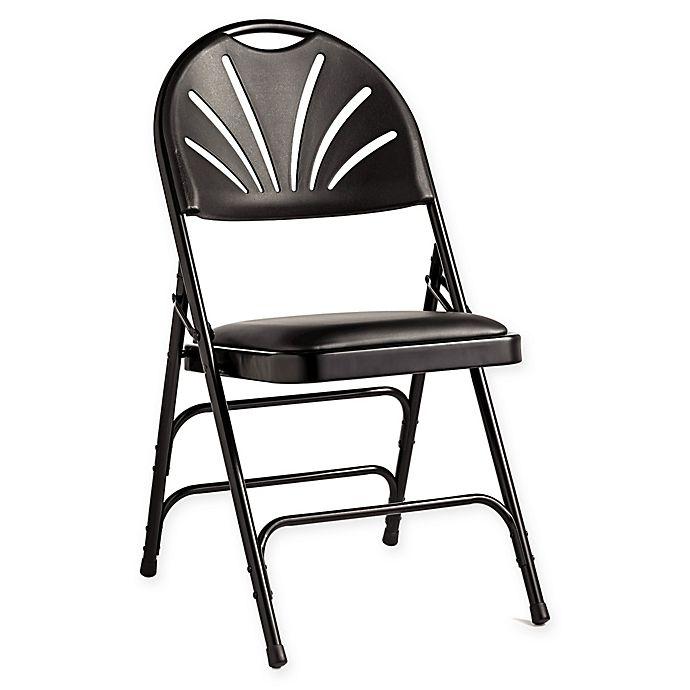 Samsonite 174 Fanback Vinyl Padded Folding Chairs Set Of 4
