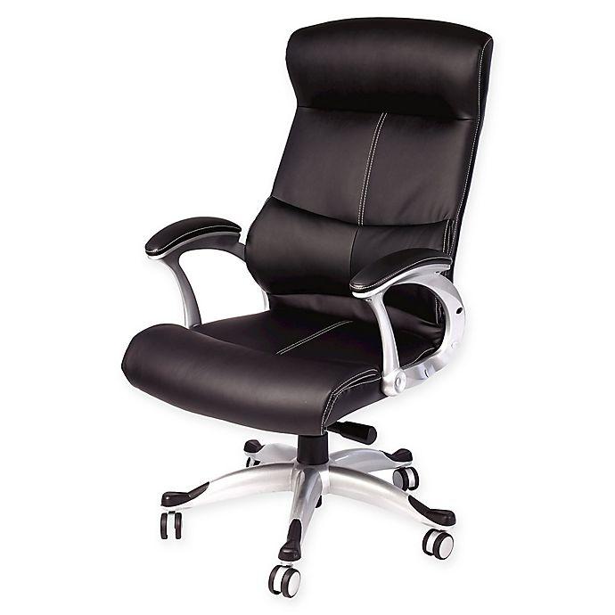 Samsonite Bonded Leather Office Chair In Black