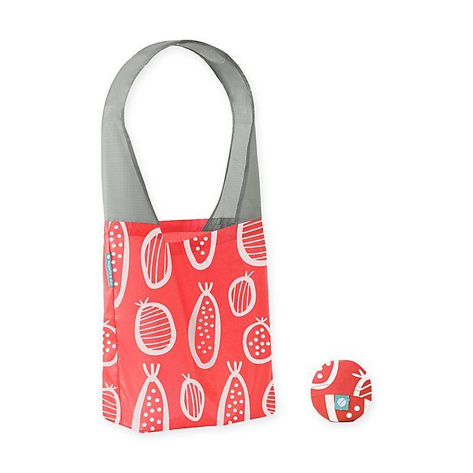 a0ae44cb6 Flip   Tumble Flip Bag 24-7 Guava-Print Reusable Shopping Bag in Coral White