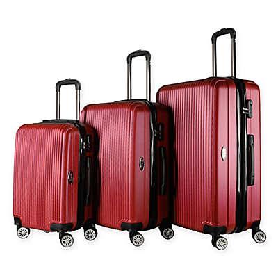 Brio Luggage #1310 Thin-Ribbed Hardside 3-Piece Spinner Luggage Set
