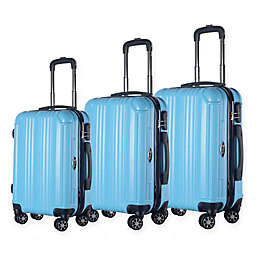 Brio Mid-Thin Ribbed 3-Piece Hardside Spinner Luggage Set