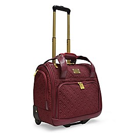 Adrienne Vittadini Diamond-Quilted Rolling Weekender Bag