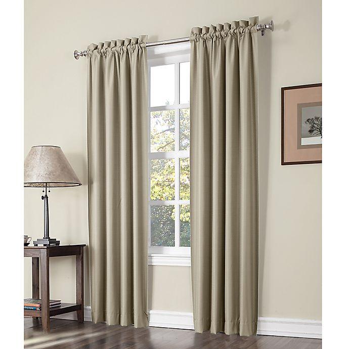 Sun Zero Perez Thermal Lined Rod Pocket Window Curtain