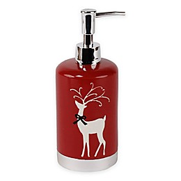 Saturday Knight Reindeer Games Lotion Dispenser in Red