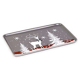Saturday Knight Reindeer Games Tray in Grey