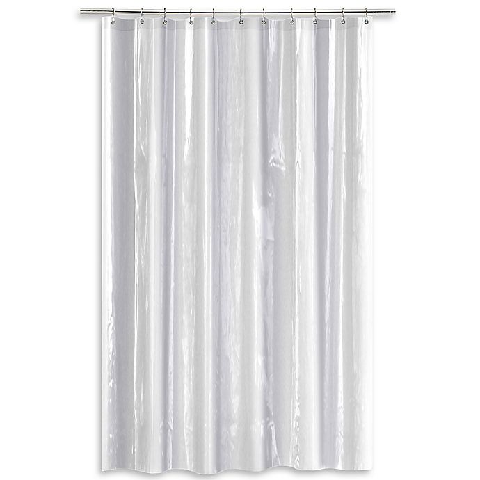 Bed Bath And Beyond Shower Curtain Liner salt heavy gauge peva shower curtain liner | bed bath & beyond
