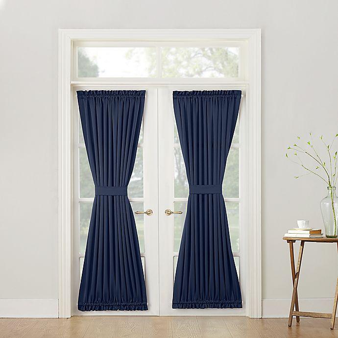 Alternate image 1 for Sun Zero® Bella 72-Inch Room Darkening Rod Pocket Door Panel