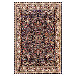 Concord Trading Sarouk 7-Foot 10-Inch x 9-Foot 10-Inch Rug in Navy