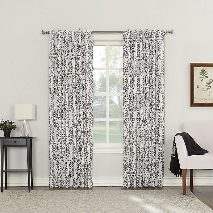 Alternate image 1 for Roselia 63-Inch Back Tab Room Darkening Window Curtain Panel in Iron