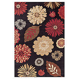 Concord Global Kaleidoscope Black 7-Foot 10-Inch x 9-Foot 10-Inch Rug
