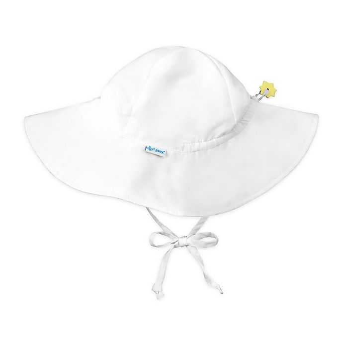 Alternate image 1 for i play.® Newborn Brim Sun Hat in White