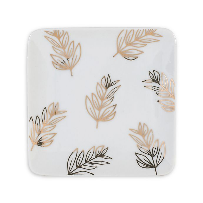 Alternate image 1 for Everyday White® by Fitz and Floyd® Leaves Square Appetizer Plates in White