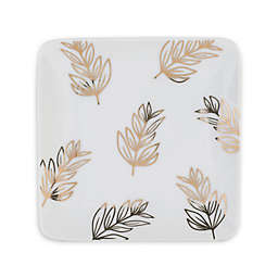 Everyday White® by Fitz and Floyd® Leaves Square Appetizer Plates in White