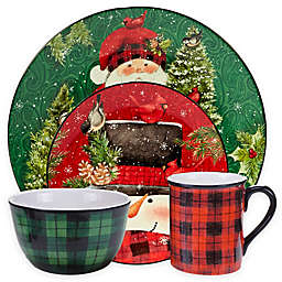 Certified International Winter's Plaid by Susan Winget Dinnerware Collection