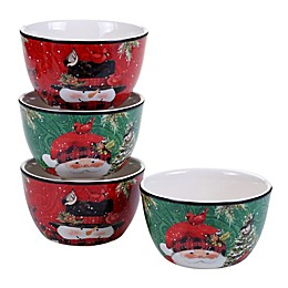 Certified International Winter's Plaid by Susan Winget Ice Cream Bowls (Set of 4)