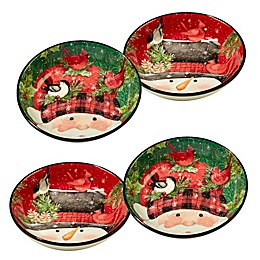 Certified International Winter's Plaid by Susan Winget Soup/Pasta Bowls (Set of 4)