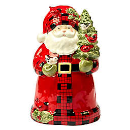 Certified International Winter's Plaid by Susan Winget Cookie Jar