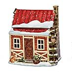 Certified International Winter Lodge 3-D Cookie Jar in Beige