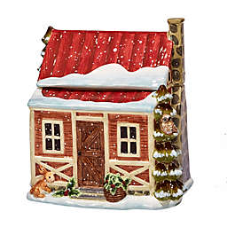 Certified International Winter Lodge 3-D Cookie Jar in Beige