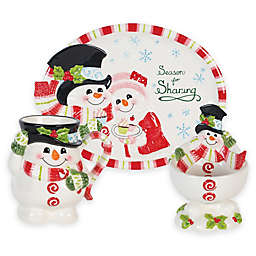 Fitz and Floyd® Flurry Folk Christmas Serveware Collection