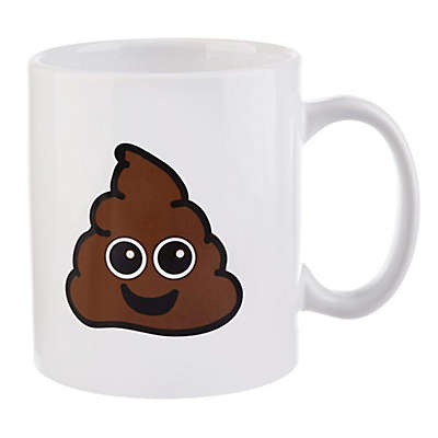 Formations Poop Emoji Can Mug in White