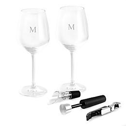 Bey-Berk 5-Piece Crystal Glasses and Wine Set