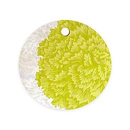 Deny Designs Lucent Round by Caroline Okun 11.5-Inch Round Wood Cutting Board in Green