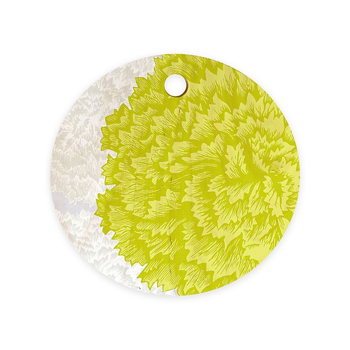 Alternate image 1 for Deny Designs Lucent Round by Caroline Okun 11.5-Inch Round Wood Cutting Board in Green