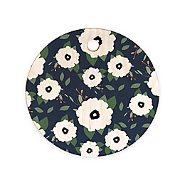 Deny Designs Allyson Johnson Floral Class Round Cutting Board