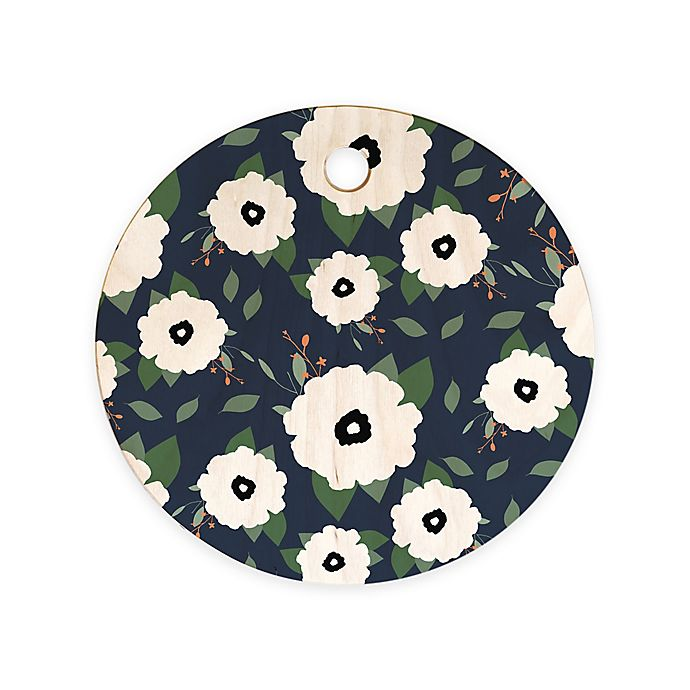 Alternate image 1 for Deny Designs Allyson Johnson Floral Class Round Cutting Board