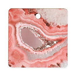 Deny Designs Agate Cutting Board in Coral