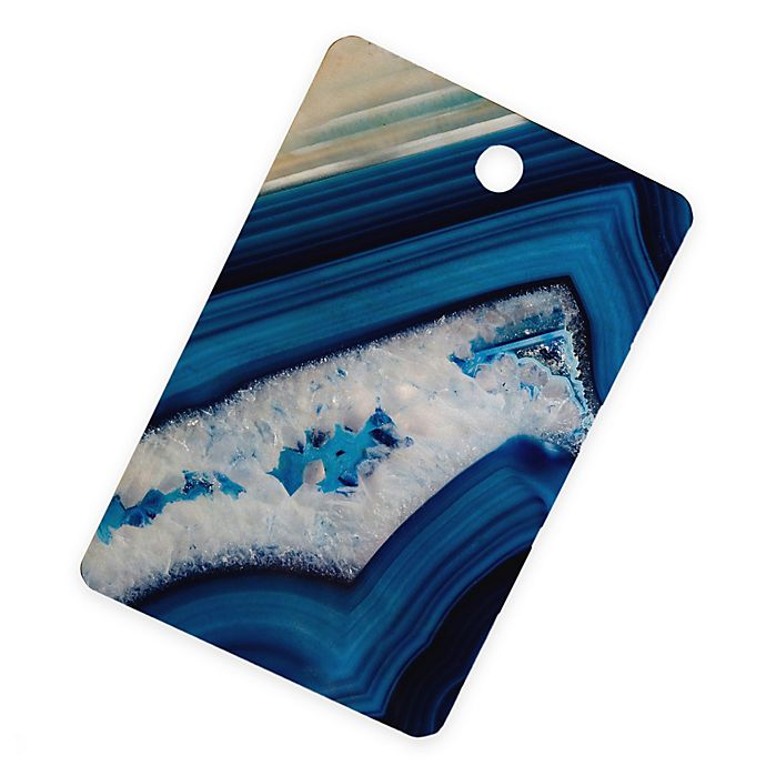 Alternate image 1 for Deny Designs Agate Cutting Board in Deep Blue
