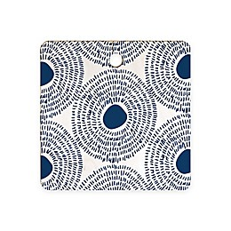 Deny Designs Circles II Cutting Board in Blue