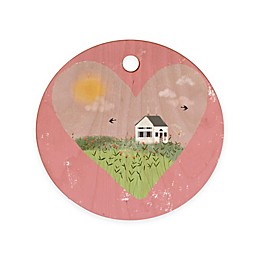 Deny Designs Spring is Coming I by Joy Laforme 11.5-Inch Round Cutting Board in Pink