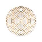 Deny Designs Golden Geo Round Cutting Board in Gold