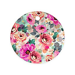 Deny Designs Abstract Geometrical Flowers Round Cutting Board