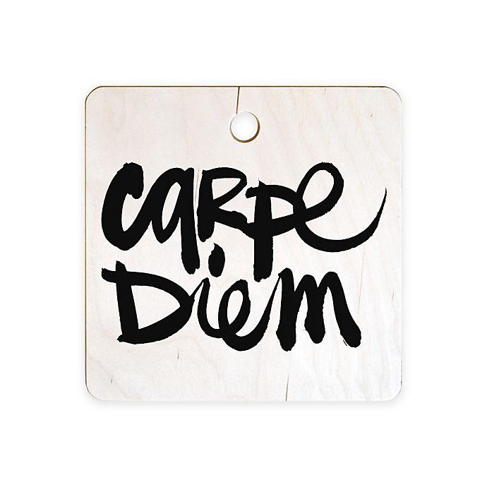 Alternate image 1 for Deny Designs Kal Barteski Carpe Diem Square Cutting Board in Black