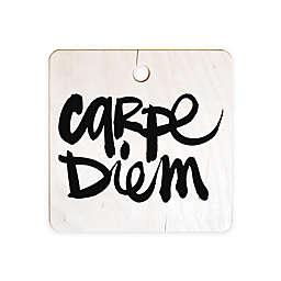 Deny Designs Kal Barteski Carpe Diem Square Cutting Board in Black