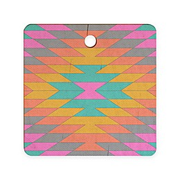 Deny Designs Ancient Rainbow by Bianca Green 11.5-inch Square Cutting Board in Pink