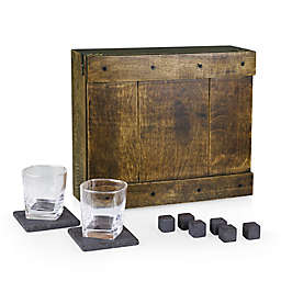 Picnic Time® Whiskey Box Gift Set in Oak
