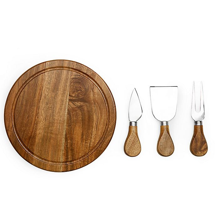 Alternate image 1 for Picnic Time® Acacia Brie Cheese Board Set in Brown