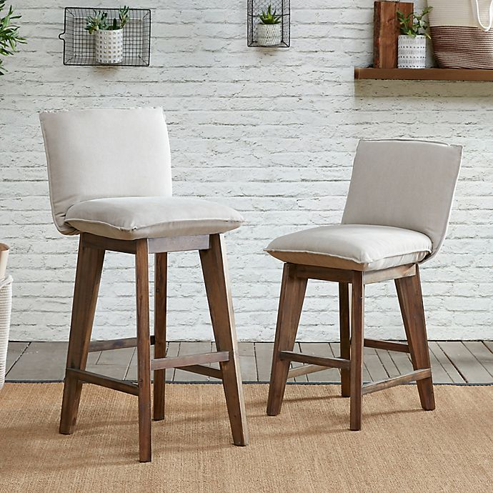 Stupendous Ink Ivy Ii Kendall 30 Inch Bar Stool In Tan Light Grey Inzonedesignstudio Interior Chair Design Inzonedesignstudiocom
