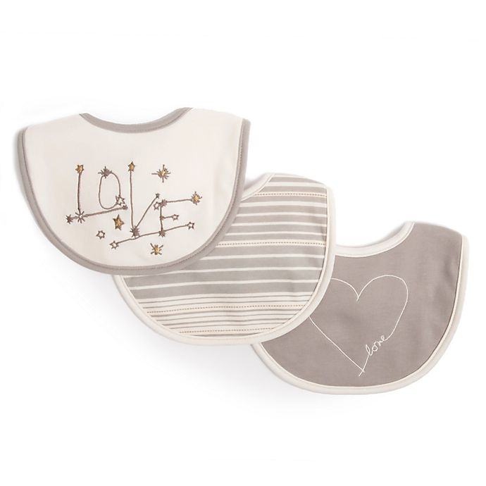 Alternate image 1 for ED Ellen DeGeneres 3-Pack Starry Night Embroidered Bib in Grey