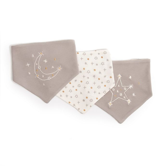 Alternate image 1 for ED Ellen DeGeneres 3-Pack Starry Night Reversible Bandana Bib in Grey