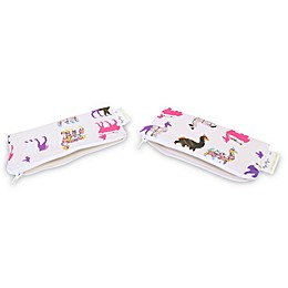 Itzy Ritzy® Snack Happens™ 2-Pack Reusable Mini Snack and Everything Bag in Llama Glama