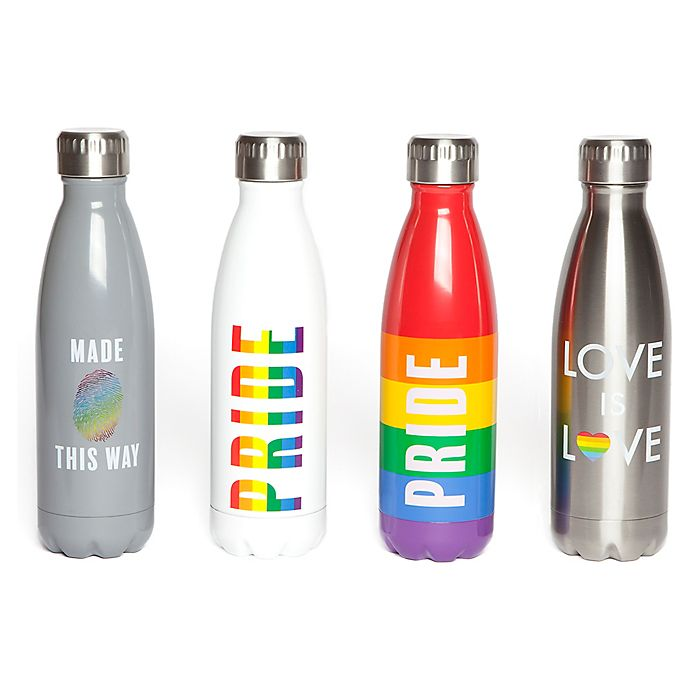 Alternate image 1 for Manna™ Vogue® Pride 17 oz. Stainless Steel Water Bottle Collection