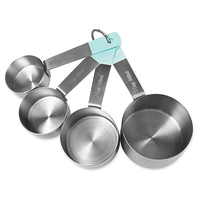 Alternate image 1 for Jamie Oliver Stainless Steel Measuring Cups  (Set of 4)
