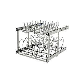 Rev-A-Shelf 5CW2-2122SC-CR Pull-Out 2-Tier Base Cookware Organizer w/Soft Close slides