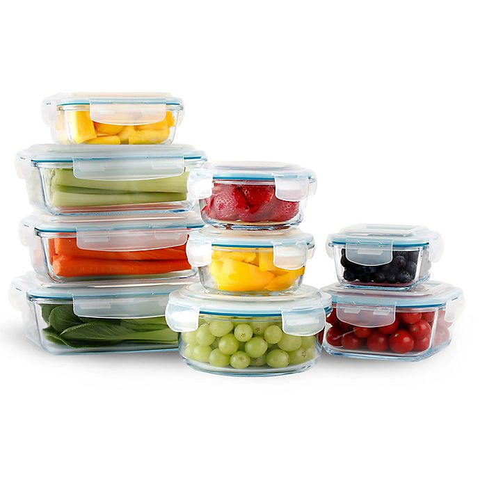 Alternate image 1 for Neoflam® Cloc™ 18-Piece Food Storage Set in Clear